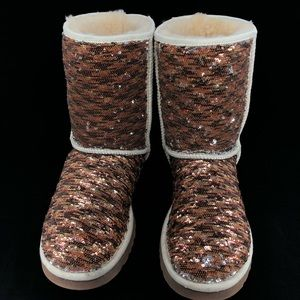 UGG LIMITED EDITION COPPER SEQUIN BOOTS